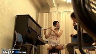 Japanese home teacher fucks music student