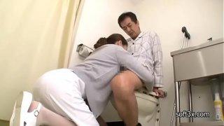 nurse Masturbation patient in toilet