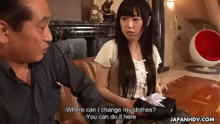 Japanese maid, Machiko Ono masturbates for a VIP client, uncensored