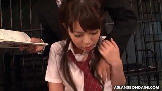 Kinky schoolgirl, Yu Ayana got throatfucked and banged all day