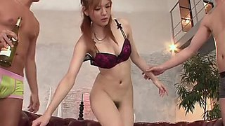 Oiled up and unshaved oriental skank finger drilled and toyed