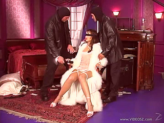 Blindfolded Oriental Cutie Katsuni Receives Double Permeated
