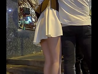 Hong Kong drunk girl without underwear