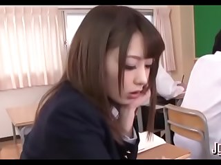 Schoolgirl attacks a huge penis