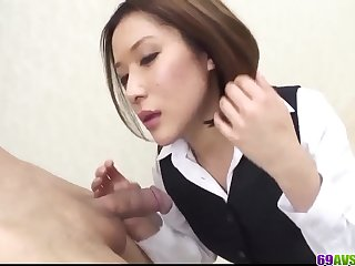 Emi Orihara knows how to spin the cock in her top pussy  More at 69avs com