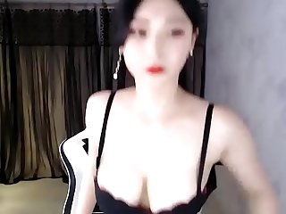 Asian girl Korea BJ solo dance show time on cam with super body !