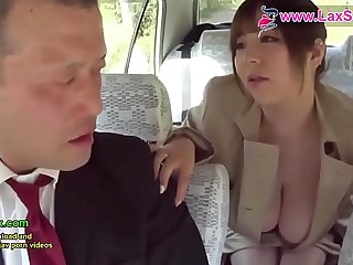 LaxSex.com  sexy Japanese queen is giving blowjob