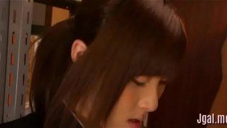 Experienced oriental schoolgirl
