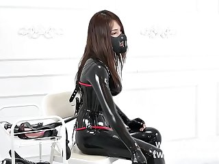 fxtube.com Latex catsuit mistress femdom and forced the heavey rubber salve blowjob 5mins