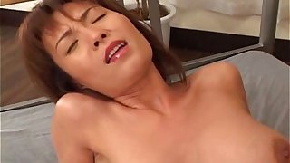 Busty Japanese MILF fucked hard uncensored