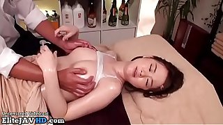 Jav massage with 18yo beauty went too far