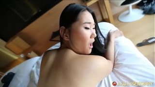 Chinese porn slut gets surprised by superfans skilled white cock
